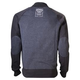 Jack Daniel's - Sweater - V-Neckline - Grey - Classic Small Logo on the Back