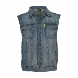 MCS - Denim Vest - Stonewashed Blue