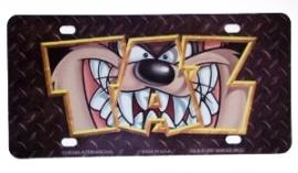License Plate /  Polycarbonate Sign - Warner Bros - Tasmanian Devil - TAZ