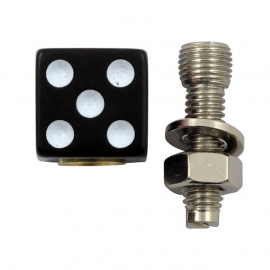 TrikTopz with License Plate Mounts - Valve Caps - Black Dice