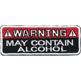 396 - PATCH - WARNING - May Contain ALCOHOL