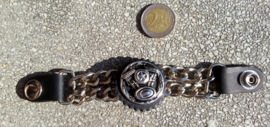 Vest Extender - Double Chain - Motorcycle Engine with Star