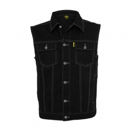 MCS - Denim Vest - Black
