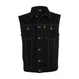 MCS - Denim Vest - Black