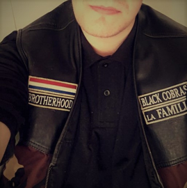 The BLACK COBRAS - front part of basic member jacket