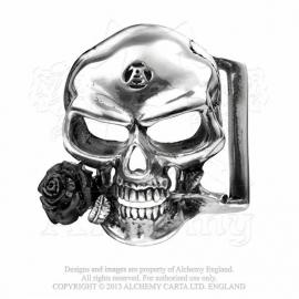Alchemy England - BELT BUCKLE - The Alchemist - Skull with Black Rose