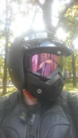 Shark Style Helmet Mask - Full Face - Iridium