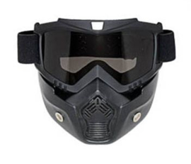 Shark Style Helmet Mask - Full Face - Smoke