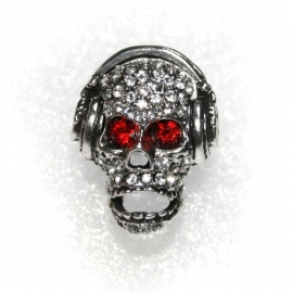 Skull ring with Earphones
