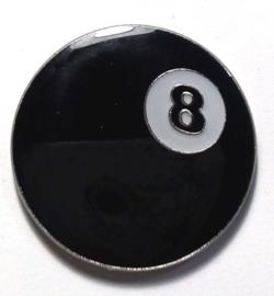 P174 - large PIN - Eightball - 8