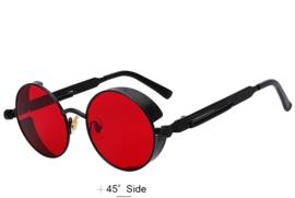 Rebel Sunglasses - Steampunk - Black & Red - 'The Devil'