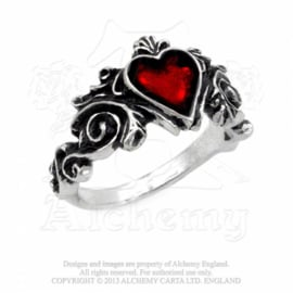 Alchemy England - RING - BETROTHAL - Red Heart