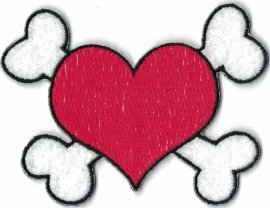 015 - PATCH - Red Heart with Bones