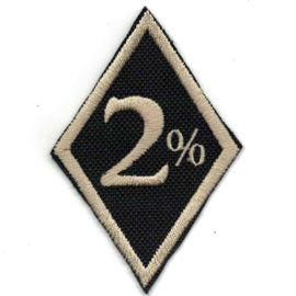 Golden PATCH - Diamond -2 % - Two Percenter (black) - 2%
