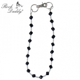 Rock Daddy - Wallet Chain with Tiny Balls - Black Dices