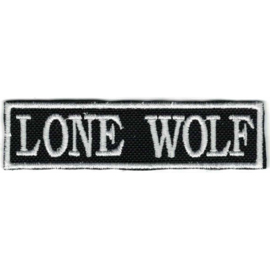 White PATCH - Flash / Stick - LONE WOLF