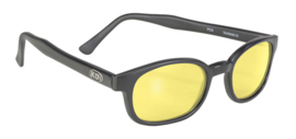 Original KD's - Sunglasses - Matte Black Frame - YELLOW