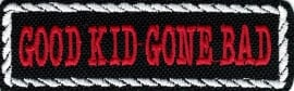 106 - White PATCH - Flash / Stick with rope design - GOOD KID GONE BACK
