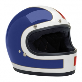 Biltwell INC - Gringo Full Face Helmet - DOT - Le Tracker [White, Red & Blue]