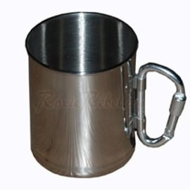 Stainless Steel Cup with Carabiner - 101 INC