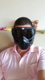 Shark Style Helmet Mask - Full Face - Smoke