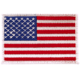 PATCH - American Flag - White Border - Stars and Stripes - USA