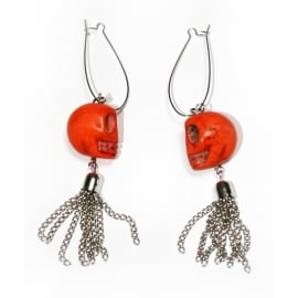 Mandarin Skull earrings