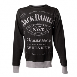 Jack Daniel's - Knitted Sweater - Black - Original Big Classic Logo