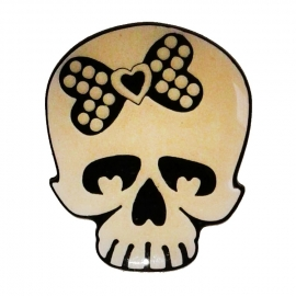 P160 - PIN - Skull with Checkered Bow
