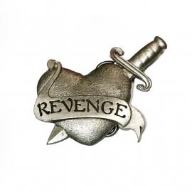 Stabbed Heart with Revenge Banner - BUCKLE [B149]