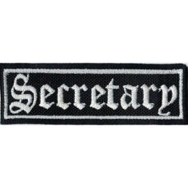WHITE PATCH - STICK - Old English lettertype - SECRETARY