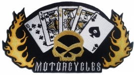 020 - medium PATCH - Motorcycles, Cards & Flames