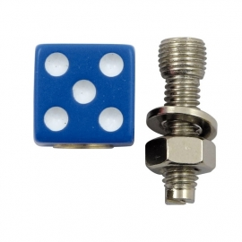 TrikTopz with License Plate Mounts - Valve Caps - Blue Dice