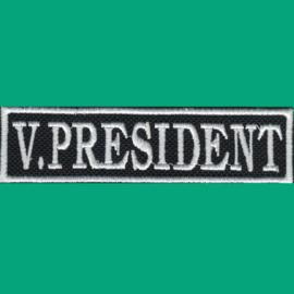 White PATCH - Flash / Stick - V. PRESIDENT - vice