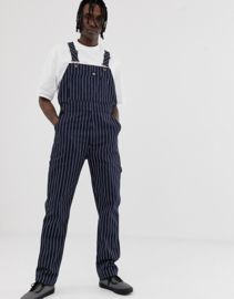 Dickies - Moneta Bib Overall - Dark Blue, White Striped