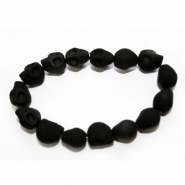 Playful Skull bracelet (soft black)