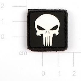 VELCRO/PVC PATCH - 3D Punisher (white)
