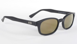 Original KD's - Sunglasses - GOLD MIRROR - Flat Black Frame & Gold Mirror Lens