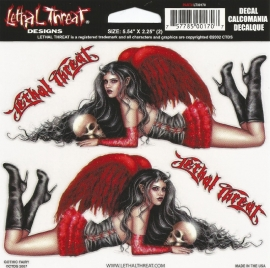Lethal Threat - Couple of Gothic Fairies - DECAL - STICKER