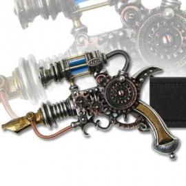 Alchemy Gothic - `Empire-Remington Patent Dermal Induceri` (Steampunk Tattoo Gun) BUCKLE