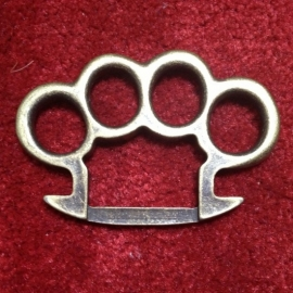Old Gold Knuckle Duster BUCKLE [B140]