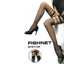 Fishnet with Uptied details - Bandage Look - Overknee Thights