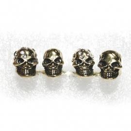 3-Fingerring with Skulls (gold)