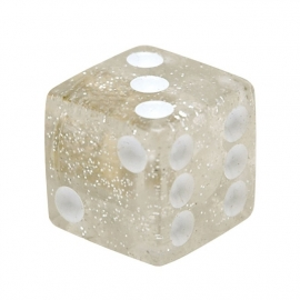 TrikTopz - Valve Caps - Clear Dice with White Eyes