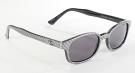 Original X-KD's - Larger CARBON  Fiber Design Sunglasses - Carbon Frame & Smoke Lens