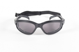KICKSTART by KD's  - FREEDOM - Wrap-Style Padded Sunglasses - Smoke