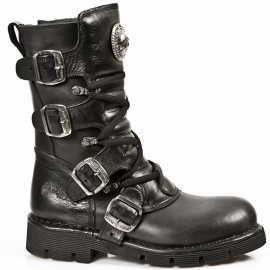 Black Nomads - New Rock - Rocker Boots - Air Soles