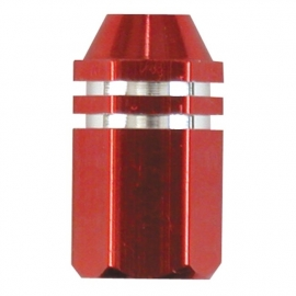 TrikTopz - Valve Caps - Red Alloy Twotone Hex Straight
