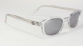 Original KD's - Sunglasses - CHILL - Clear Frame & Silver Mirror Lens