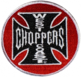 140 - PATCH - West Coast Choppers Black/Red (round)
